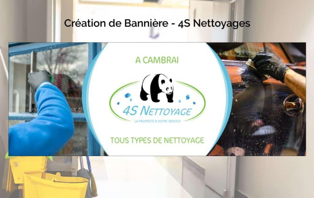 Création de Bannière – 4S Nettoyage