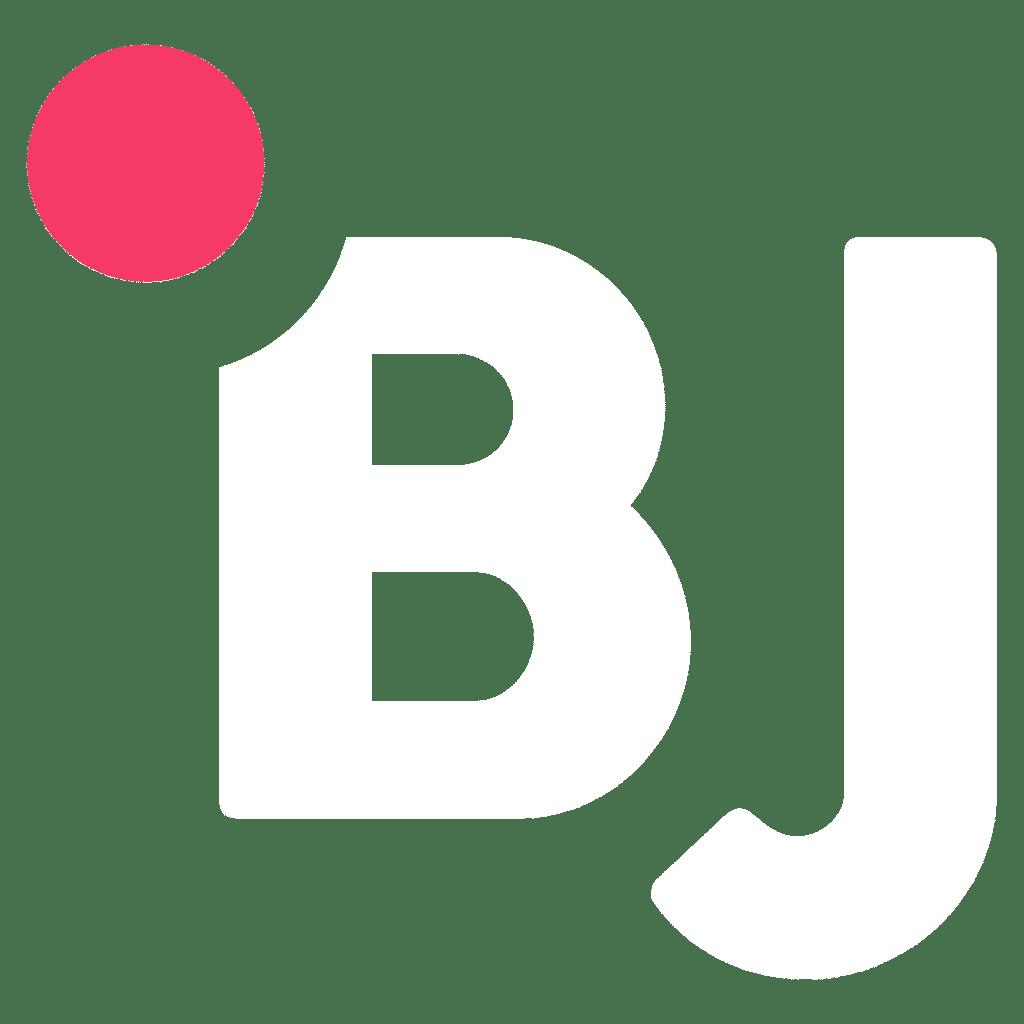 Logo Bj Solutions blanc