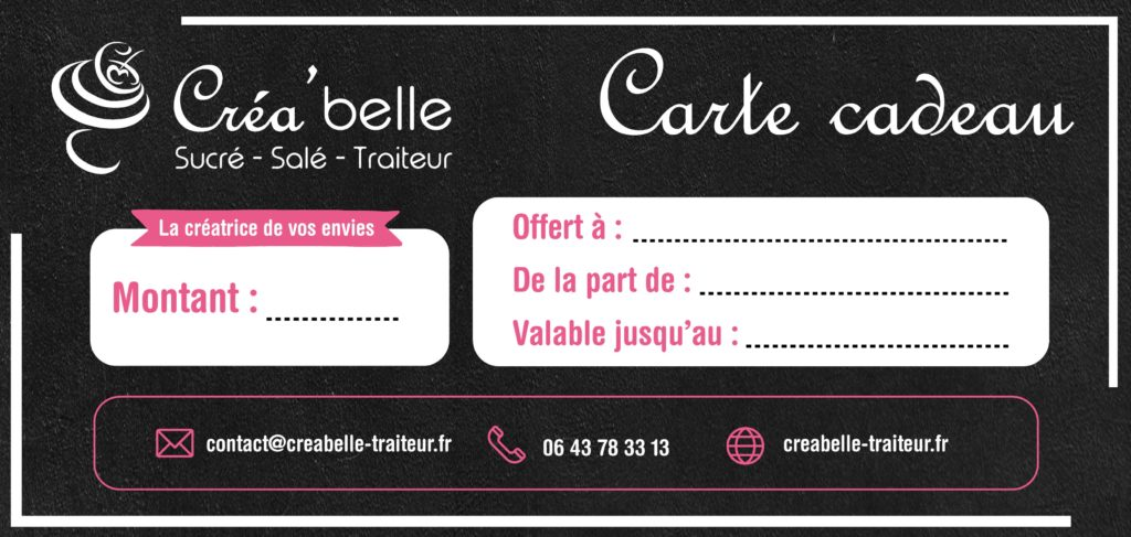 Carte cadeau Créabelle